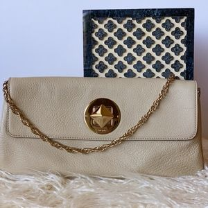 Kate Spade Leather Clutch with Gold Chain Strap